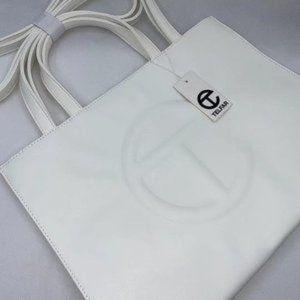 🌟Telfar🌟 Medium White Shopping Bag goddess